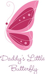 Daddys Little Butterfly print art