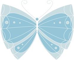 Blue Butterfly print art