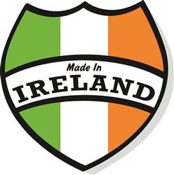 Made In Ireland Crest print art