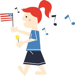 July 4th Girl print art