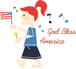 God Bless America print art