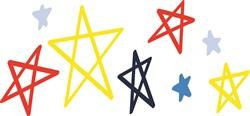 Stars print art