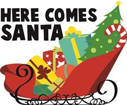 Here Comes Santa print art