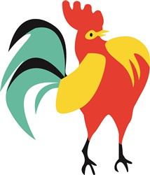 Rooster print art