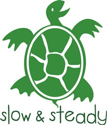 Green Turtle Slow And Steady print art