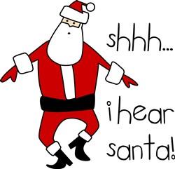 I Hear Santa print art