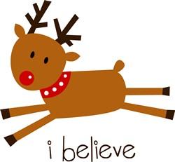 Rudolph I Believe print art