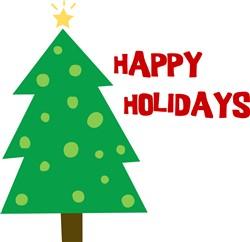 Happy Holidays Tree print art