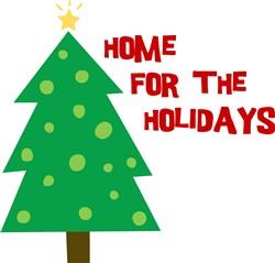 Christmas Tree Home For The Holidays print art