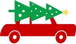 Christmas Tree Car print art