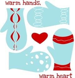 Mittens Warm Hands print art