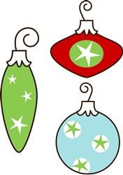 Retro Ornaments print art