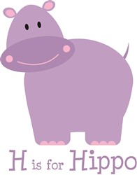 H Is For Hippo print art