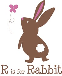 R Is For Rabbit print art