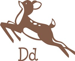 D For Deer print art