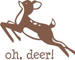 Oh, Deer print art