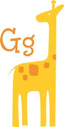 G For Giraffe print art