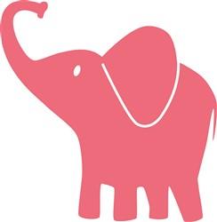 Pink Elephant print art