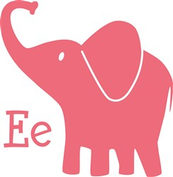 E For Elephant print art