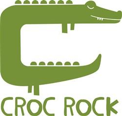 Crocodile Croc Rock print art