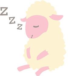 Sleeping Lamb print art