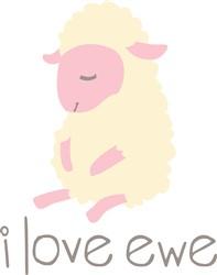 I Love Ewe print art