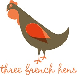 French Hens print art