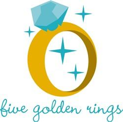 Golden Rings print art