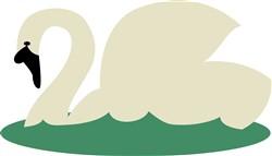 Swans-A-Swimming print art