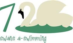 Swans A-Swimming print art