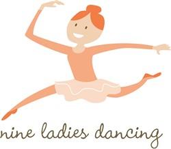 9 Ladies Dancing print art