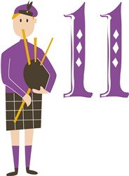 11 Pipers Piping print art