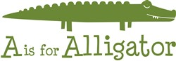 A Is For Alligator print art