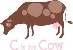 C Is For Cow print art