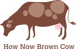 How Now Brown Cow print art