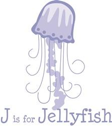 J Is For Jellyfish print art