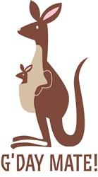 Kangaroo GDay Mate print art