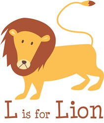 L Is For Lion print art
