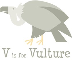V Is For Vulture print art