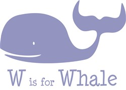 W Is For Whale print art