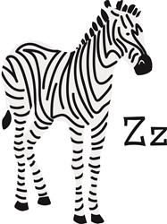 Z For Zebra print art