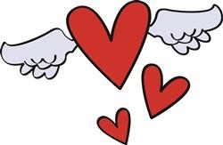 Flying Hearts print art