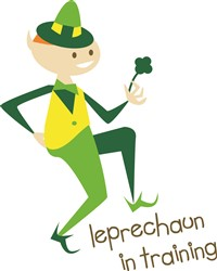 Leprechaun In Training print art