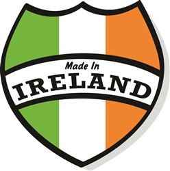 Made In Ireland Crest print art