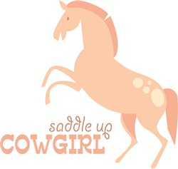 Saddle Up Cowgirl print art
