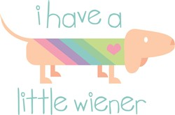Wiener Dog print art
