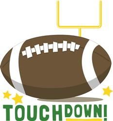 Football Touchdown print art