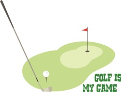 Golf Is My Game print art