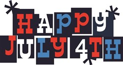 Happy July 4th print art