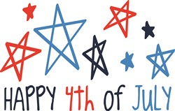 Happy 4th of July print art